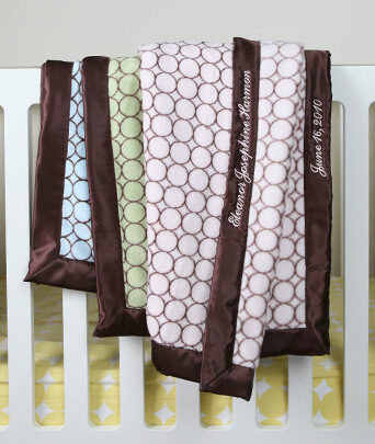 SwaddleDesigns® Satin Trim Stroller Blanket